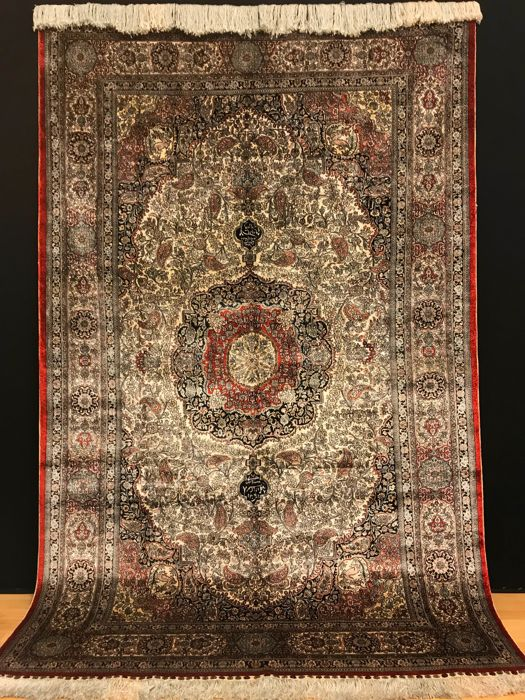 Hereke Silk approx. 246 x 157 cm China