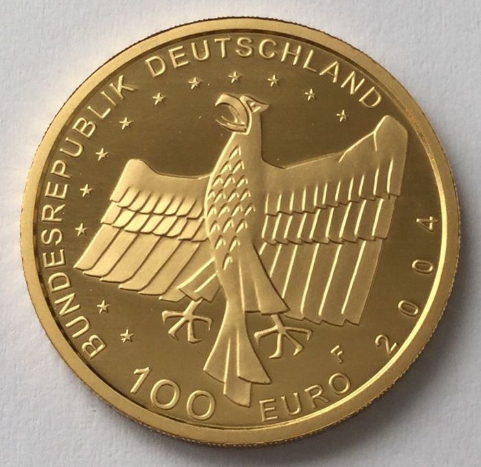 "Germany – 100 Euro 2004 F ""UNESCO World Heritage City Bamberg"" – 1/2 oz gold"