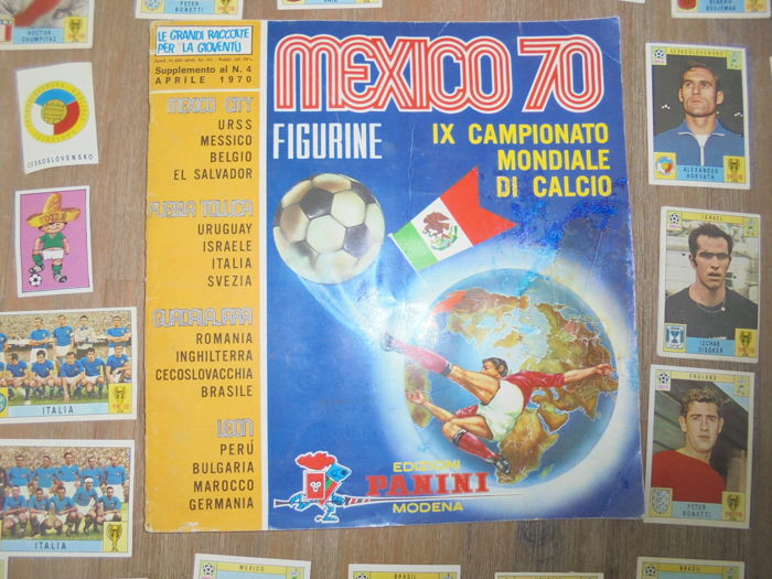 Panini - World Cup Mexico 70 - Original empty album + 39 cards