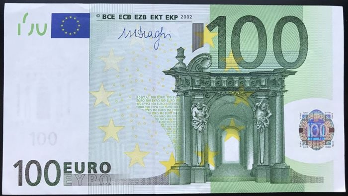 european union germany 100 euro 2002 draghi catawiki. Black Bedroom Furniture Sets. Home Design Ideas
