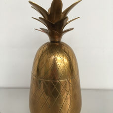 Unknown producer - Large vintage brass pineapple ice bucket