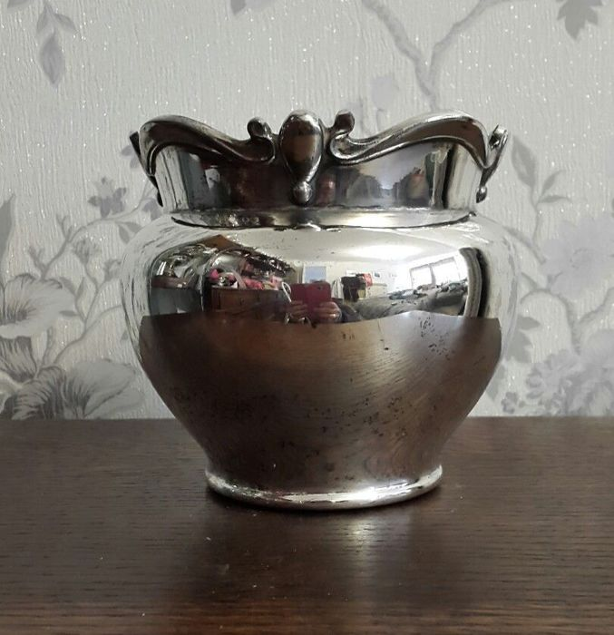 Antique Silver Plated Flower Vase By Atkin Brothers Catawiki
