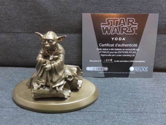Very rare Star Wars Master Jedi Yoda Attakus / Atlas Limited Edition make of metal ( bronze )