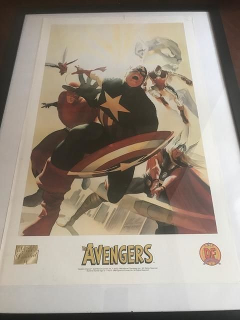 The Avengers - Alex Ross Lithograph - Limited Edition - Marvel Comics / Dynamic Forces 1999