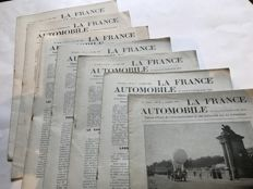 Lot of 7 newspapers of the time - La France Automobile, official organisation of motoring circa 1906-1907
