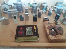 22 table lighters lighters lighters and beautiful metals with a print out 2 petrol lighters