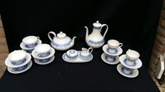 Hutschenreuther – tea and coffee set, genuine cobalt