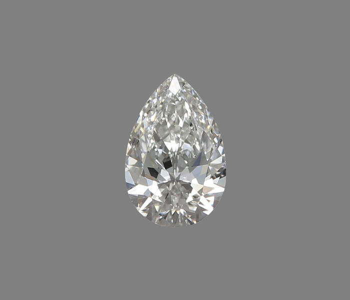 Pear-shaped diamond, certified and engraved GIA, 0.30 ct, colour F, clarity VVS1