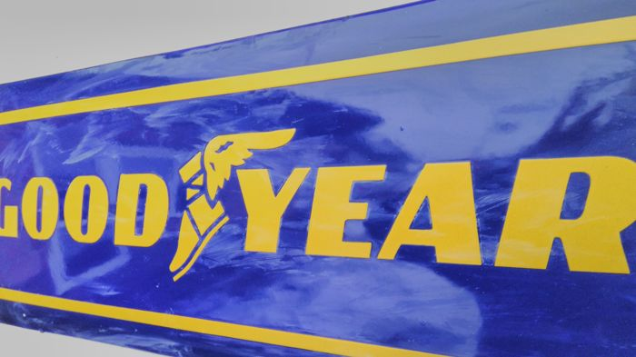 Goodyear Tire and Rubber Company - Enamel sign - GOOD YEAR 80 / 30cm. Very good condition.