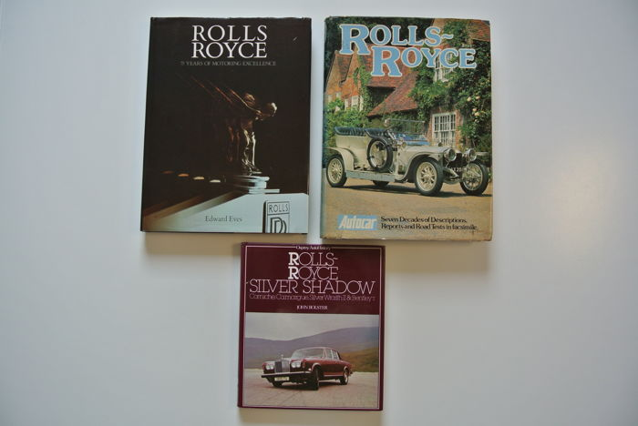 3x Rolls-Royce books (1978-1979)