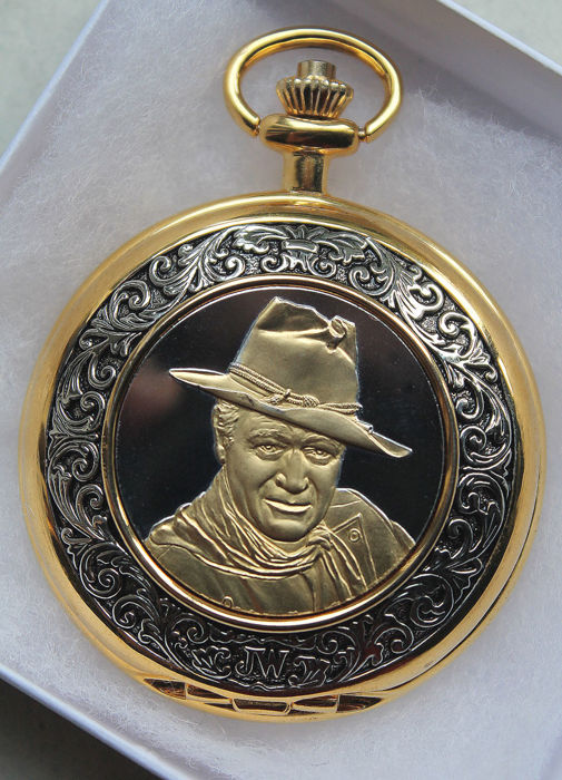 Franklin Mint - John Wayne Collector Pocket Watch