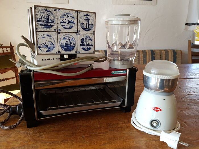 3 antique, electrical kitchen appliances by the Krups and Siemens ...
