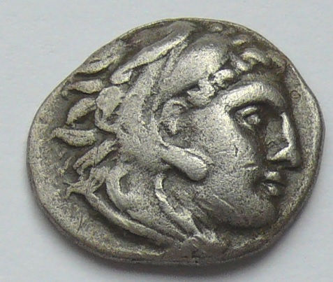 Ancient Greece - Macedonia, drachme, Alexander III, the Great, 336–323 BC (c. 310–301 v.Chr., colophon)