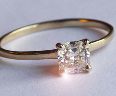 14K Yellow gold Diamond Solitaire ring - NO RESERVE