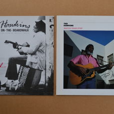 2 great albums  autographed by the late Ted Hawkins