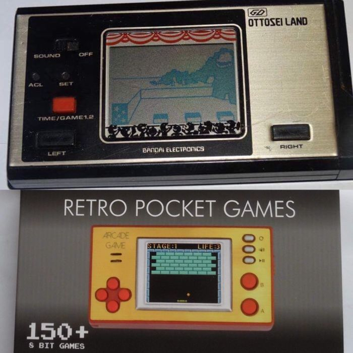 Bandai - Ottosei land  + retro pocket games bit 150