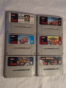 6 games Super Nintendo - like Mario Kart