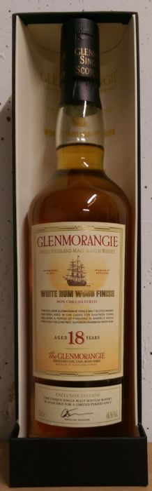 Glenmorangie 18 years old - White Rum Wood finish - OB