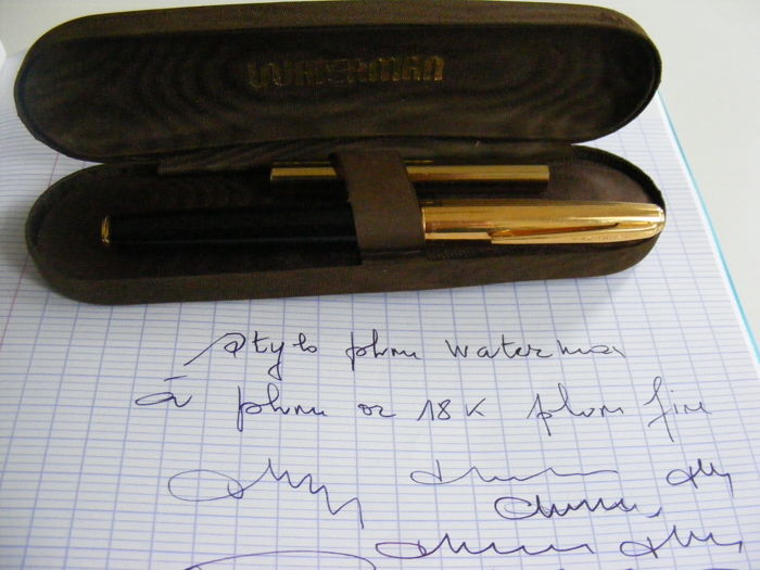 Very Beautiful Waterman Model 60 Fountain Pen - Gold Nib - Gold Plated Cap