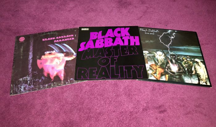 Black Sabbath - Nice lot of 3 lp`s of their best albums; Masters Of Reality, Paranoid and Live Evil