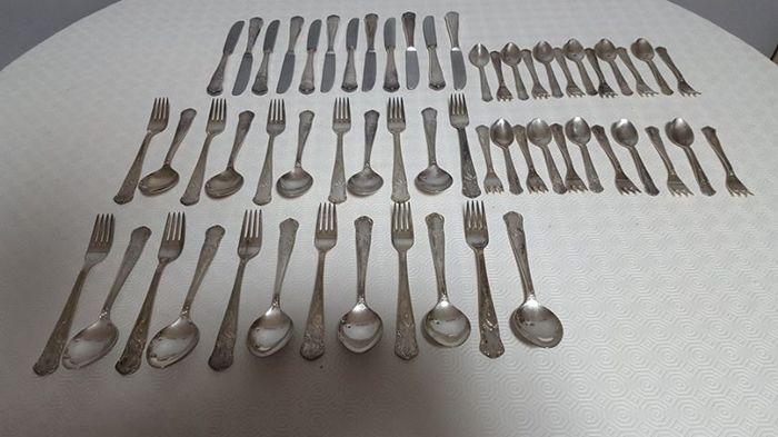 BMF - SOLINGEN utensils for 12 people - 100 silver plated - 1940-50s - 58 pieces