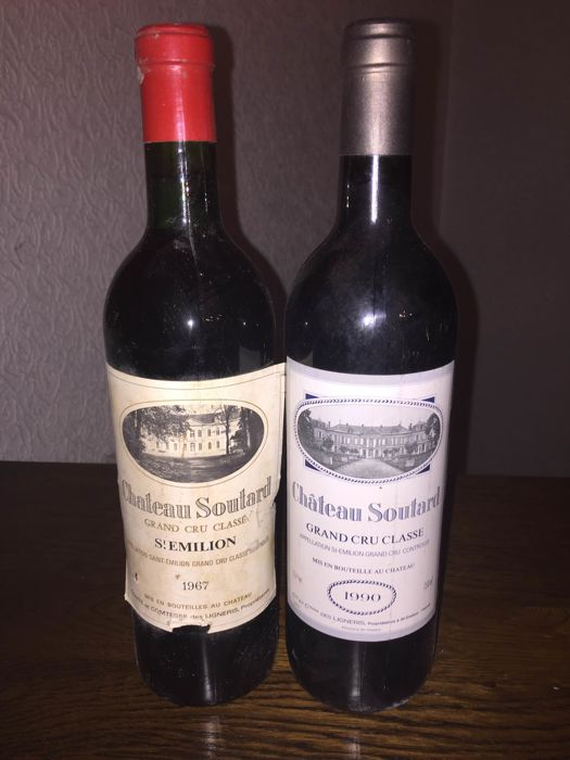 1967 Chateau Soutard-Saint Emilion x 1 bottle & 1990 Chateau Soutard - Saint emilion x 1 bottle / total 2 bottles