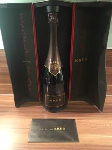 1996 Krug Vintage Champagne - 1 bottle (75cl) in original cardboard case - 99+pts IWC