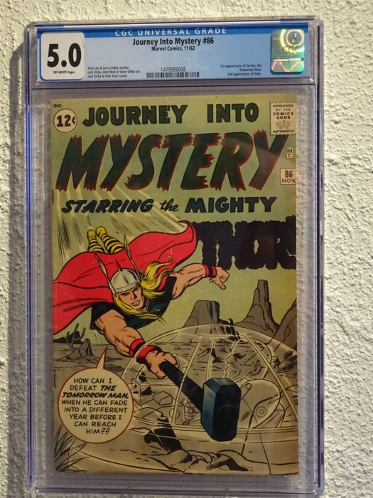 Journey Into Mystery #86 - Marvel Comics - 1st appearance of Zarrko - CGC 5.0 - (1962)