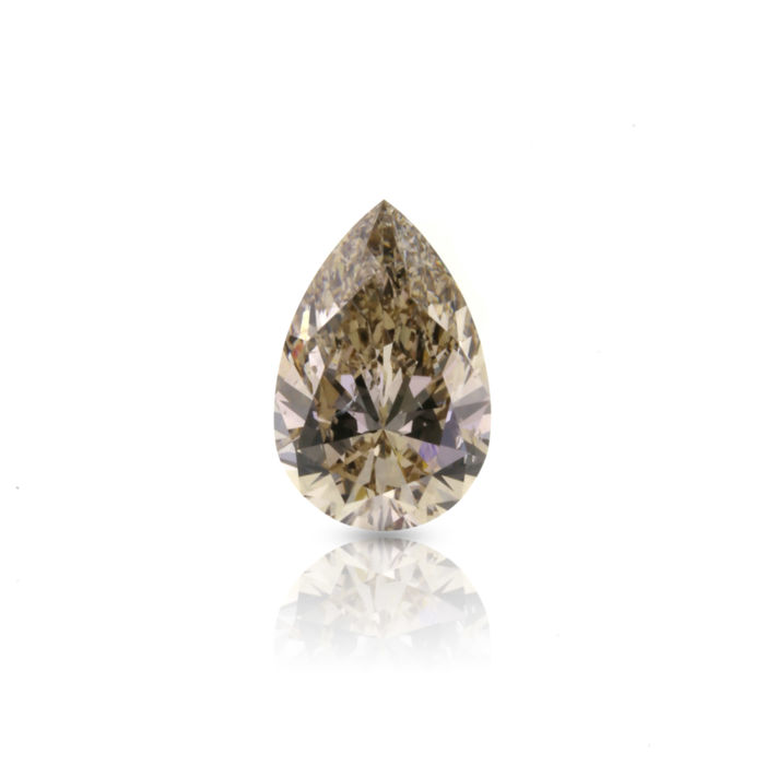 1.62 ct. Natural Fancy Yellowish Brown Pear shape Diamond, HRD Certified