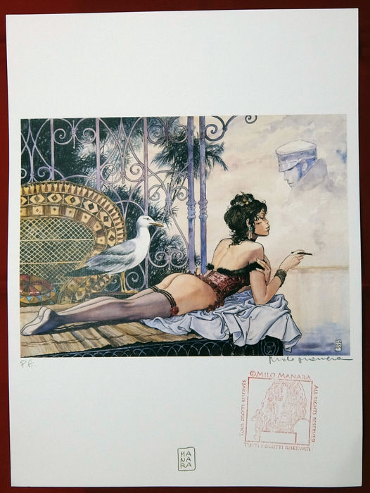 "Manara, Milo - signed graphic artwork from the portfolio  ""Desiderables - Esmeralda P.A."" (2017)"