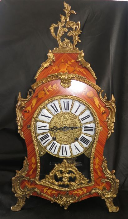 French-style Boulle table clock - 20th century