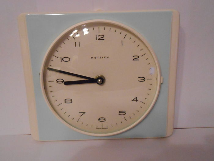 Good Vintage Kitchen Clock Wall Clock  Hettich Schwebegang Uhrwerk 50s