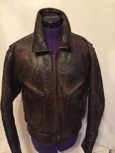 Beautiful leather motorcycle jacket - Chevignon - 1995