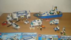 City - 7287 + 7288 + 7286 + 7285 + 7741 -  Police Boat + Mobile Police Unit and more