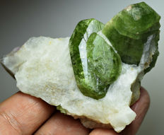 well Terminated Diopside Crystals on Matrix - 51 x 73 x 40 mm - 110 Grams