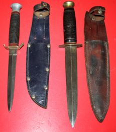 Lot of 2 British daggers, both Sheffield made, one made by Taylor the other one by J.U.James & Son  both in good  condition