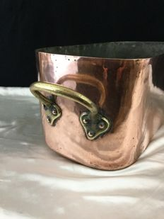 Large tinned copper cooking pot - France - Circa 1920