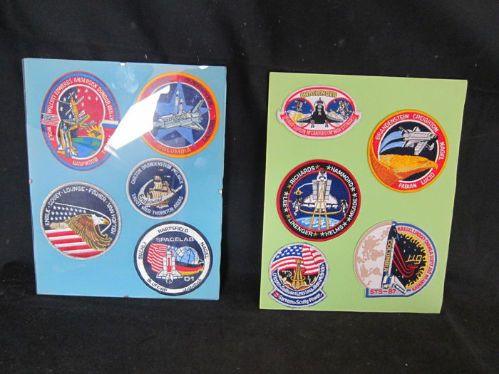 10 NASA spaceshuttle  sleeve patches
