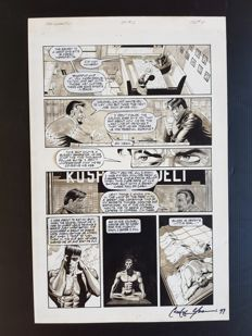 Paul Gulacy - Original Art Page - The Grackle #2 - Page 4- (1997)