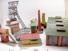 Faller, Pola H0 - 560/B-158/130945  - Scenery - Party including Coal Mine, Loc and goods shed