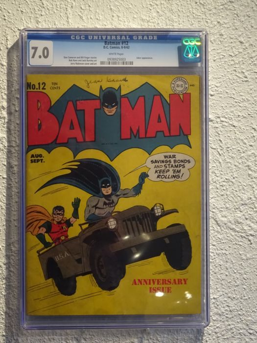 Batman #12 - DC Comics - CGC 7.0 - (1942)