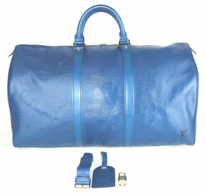 f29406d834f Louis Vuitton Toledo Blue Epi Leather - Keepall 50 Travel Weekend Bag -  Vintage