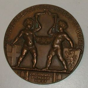 Kingdom of Italy – 1930 Medal – Marriage of Umberto II and Maria Josè
