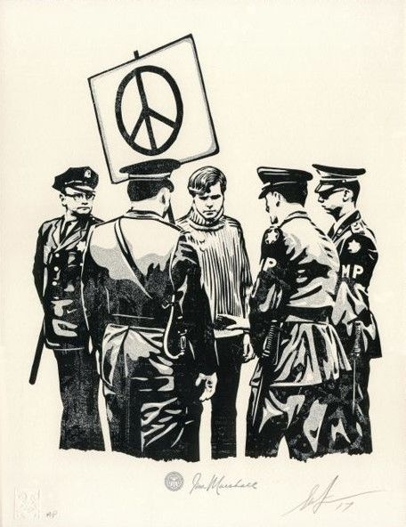Shepard Fairey (OBEY) - Peaceful Protestor