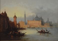 Henry Foley (1818-1874) - The Grand Canal, Venice