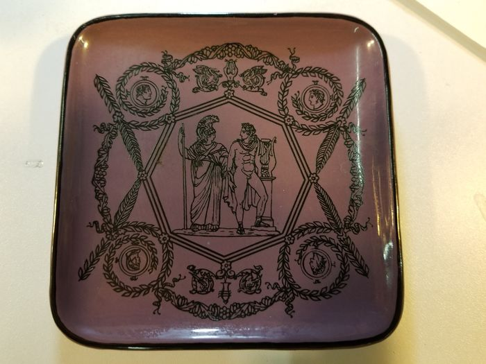 Piero Fornasetti Milano purple dish with Roman figures