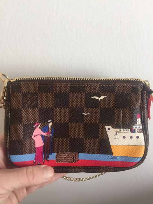 5e2db1fccfdf Louis Vuitton - Damier Ebene Illustre Transatlantic Mini Pochette ...
