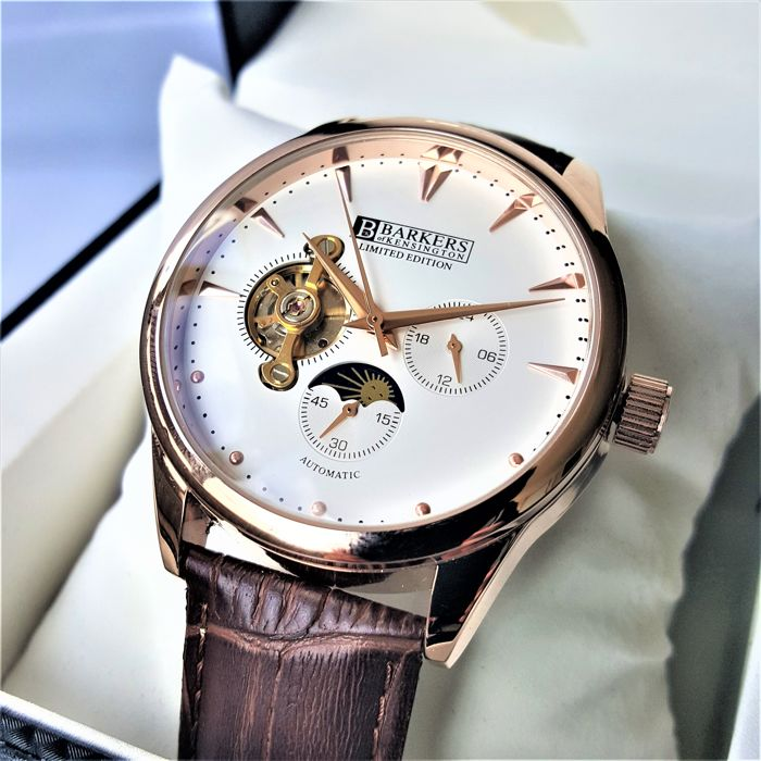 Barkers of Kensington - Limited Edition Open Heart Sun Moon Gold Automatic - 男士 - 2018 - New