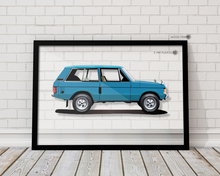 QUAD - Framed Transparent Print Halmo Collection Range Rover 3 door