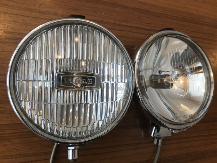 Set Original Lucas FT/LR 6/9 rally spotlight and fog light with covers